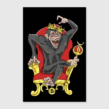 Bitcoin Monkey King - Édition Bêta - Poster 60 x 90 cm