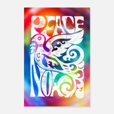 Dove Of Peace Peace Now 60s Dove of Peace poster - Poster 24 x 35 (60x90 cm)