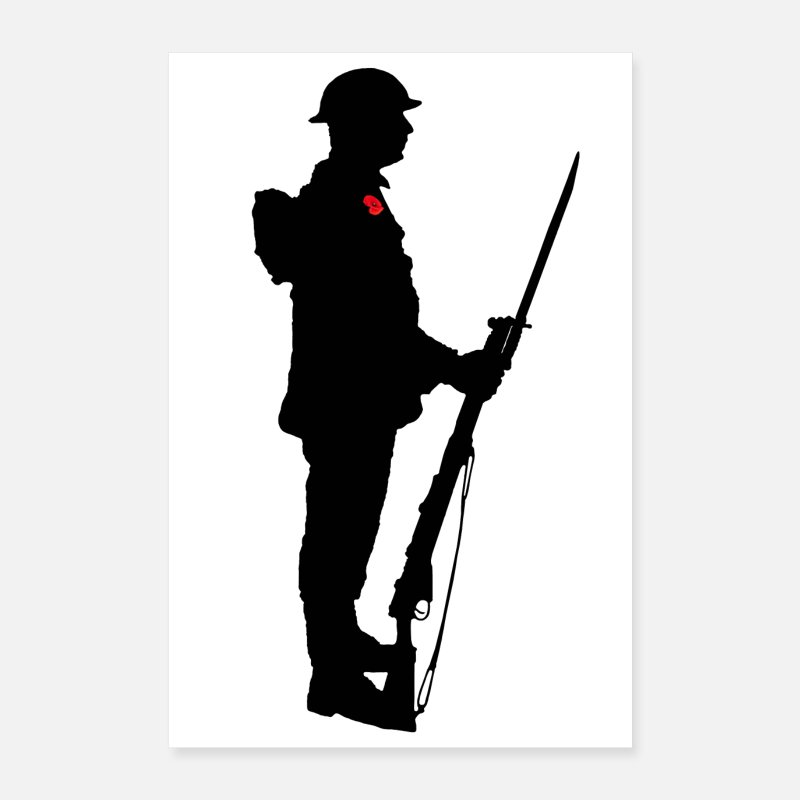 Gun Posters - A Soldier - Posters white