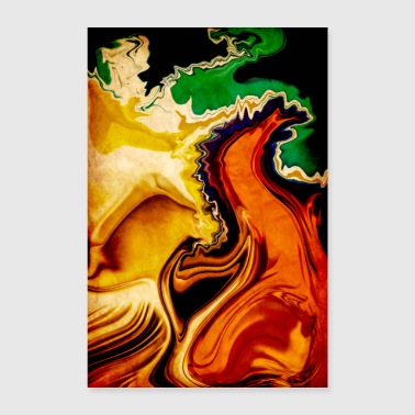 Brand RAGING BRAND ABSTRACT N 2 - Poster 60x90 cm
