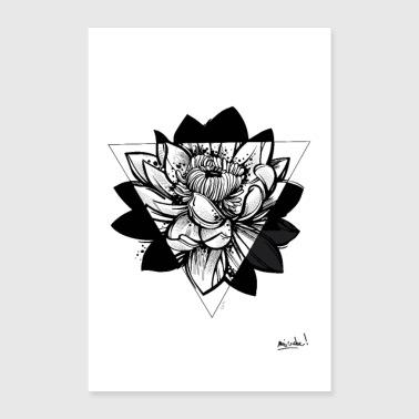 Shop lotus flower posters online spreadshirt lotus poster 24 x 35 60x90 cm mightylinksfo