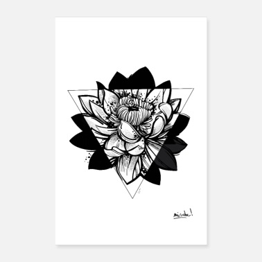 Shop Lotus Flower Posters Online Spreadshirt