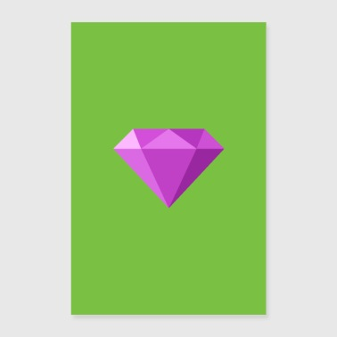 Pink diamond poster gift - Poster 24 x 35 (60x90 cm)