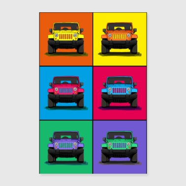 Icon The off-road vehicle icon as a cool graphic - Poster 24 x 35 (60x90 cm)