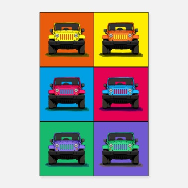 Vehicle The off-road vehicle icon as a cool graphic - Poster 24 x 35 (60x90 cm)