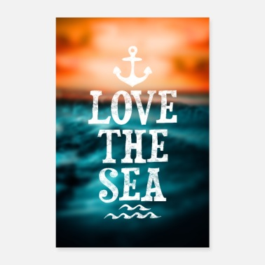 I Love SEA LOVE - Poster 60x90 cm