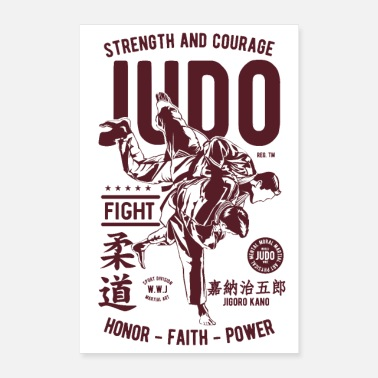Krav Maga JUDO JUDOKA SPORTS - Martial Arts Gifts Shirts - Poster