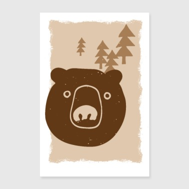 Dessin d'ours - Poster 60 x 90 cm