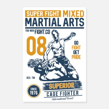 Sports SUPER FIGHT SPORT - Martial Arts Gifts Shirts - Poster 24 x 35 (60x90 cm)