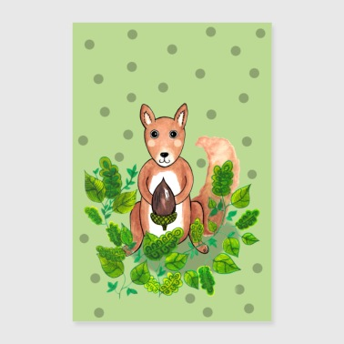 Squirrel poster - Poster 24 x 35 (60x90 cm)