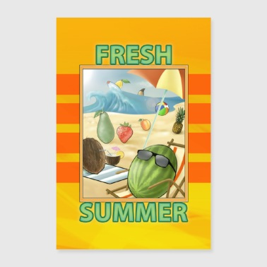 Fresh Fruit Summer - Poster 24 x 35 (60x90 cm)
