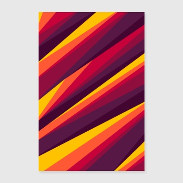 ART LINES IN FIRE PAINTS - Poster 24 x 35 (60x90 cm)