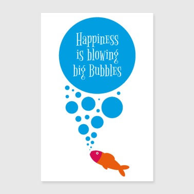 BIG BUBBLES - Poster 60x90 cm