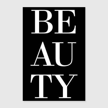 beauty beauty black white - Poster 24 x 35 (60x90 cm)