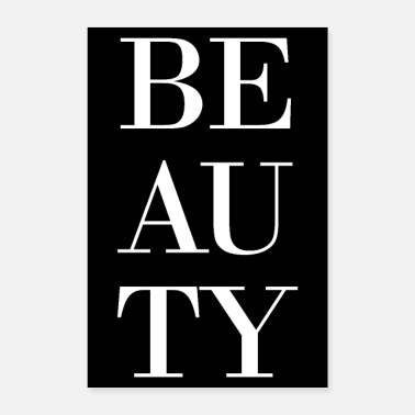 Beautiful beauty beauty black white - Poster 24 x 35 (60x90 cm)
