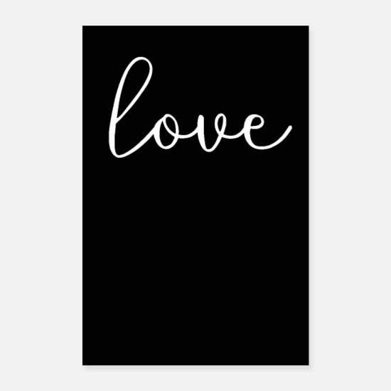 Blanc Posters - amour amour noir blanc - Posters blanc
