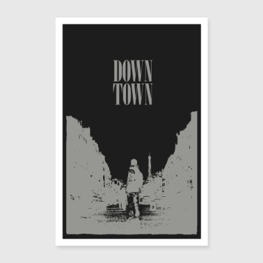 Downtown-Post - Poster 24 x 35 (60x90 cm)