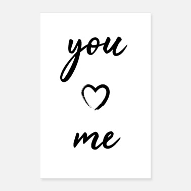 you and me herz heart - Poster