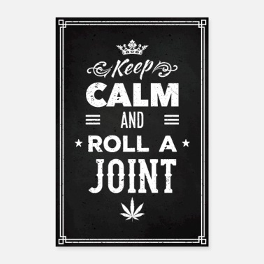Stoner KIFFER POSTER JOINT funny gift - Poster 24 x 35 (60x90 cm)