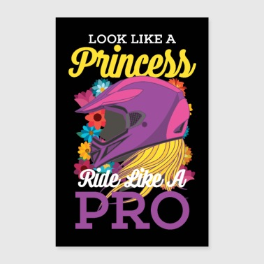 Motocross Princess Dirt Bike Motorcycle Poster - Poster 60x90 cm