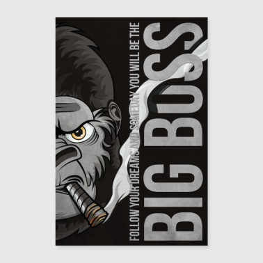 Big Boss Illustration Poster 61x91,5 - Poster 60x90 cm