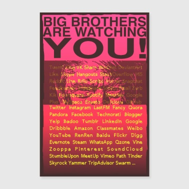 Big Brother are watching YOU! - Poster 24 x 35 (60x90 cm)