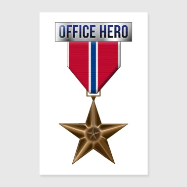 Medaille Bronze Star Office Hero Funny Military Ar - Poster 60x90 cm