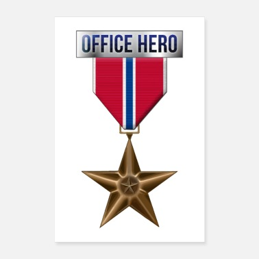 Military Medal Bronze Star Office Hero Funny Military Ar - Poster 24 x 35 (60x90 cm)