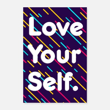Person Love Yourself Motivational Poster Personality - Poster 24 x 35 (60x90 cm)