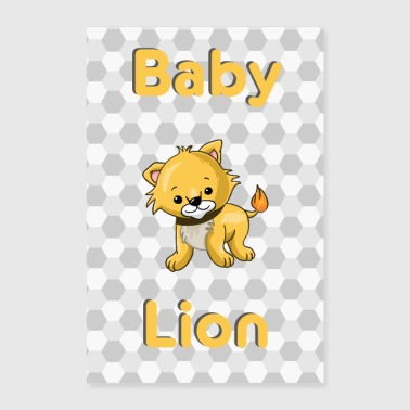 Baby Lion Lion Baby Animal - Poster 60x90 cm