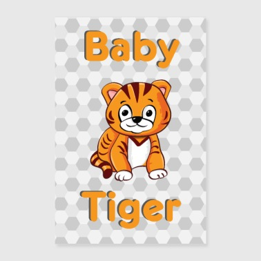 Baby Tiger Baby Animal - Poster 60x90 cm
