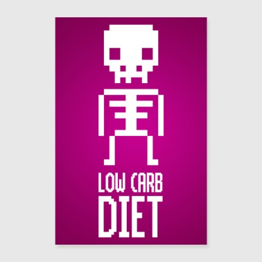 Low Carb Diet Skeleton Poster - Poster 60x90 cm
