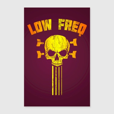 Koncert Low Frequency Skull Bassist Bass Guitar Plakat - Poster 60x90 cm