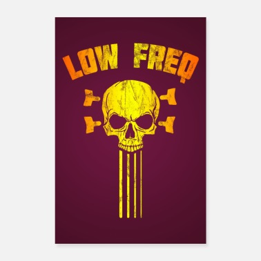 Bassist Low Frequency Skull Bassist Bass Guitar Poster - Poster
