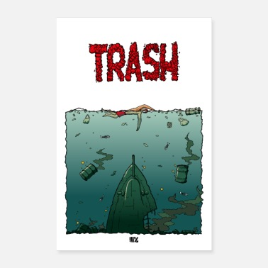 Kino Trash / Jaws Poster - Poster 60x90 cm