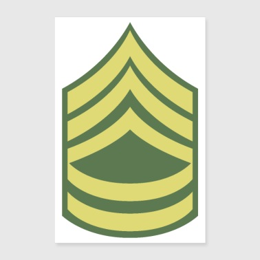Naam Military Uniform US Army Sergeant First Class - Poster 60x90 cm