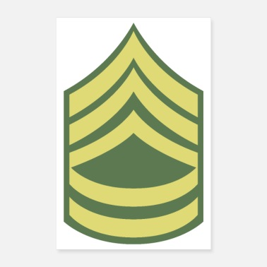 Senior Naam Military Uniform US Army Sergeant First Class - Poster 60x90 cm