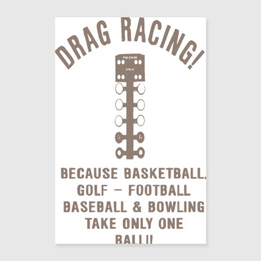 Tuning dragstrip - Poster 60x90 cm