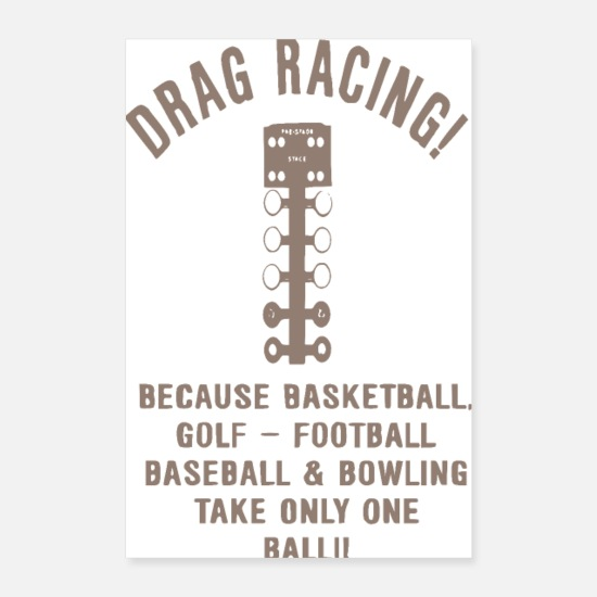 Tuning Posters - dragstrip - Poster hvid