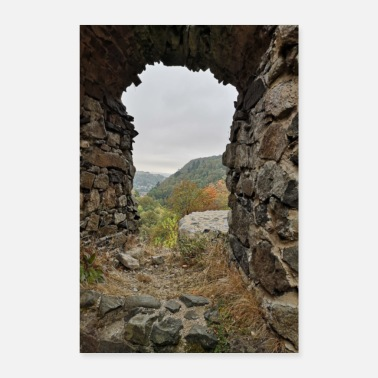 View View from castle ruin - Poster 24 x 35 (60x90 cm)