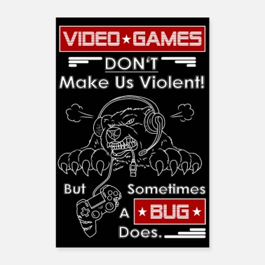Video Video Spiel Nerd Gamer illustration - Poster