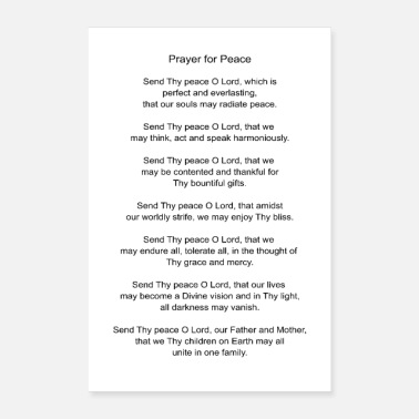 Prayer Prayer for Peace - Poster 24 x 35 (60x90 cm)