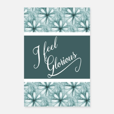 Inspiration Inspiration inspirante Mots Affirmation Turquoise - Poster