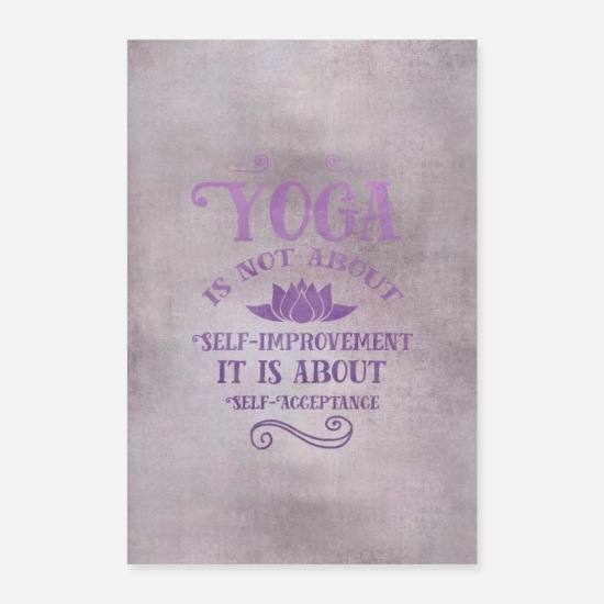 Serenity Posters - yoga - Posters white