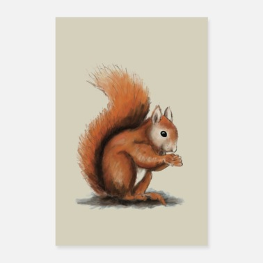 Rodent Squirrel illustration - Poster 24 x 35 (60x90 cm)