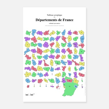 Départements de France - Poster