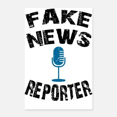 Cnn fake news reporter, fake news shirt - Poster