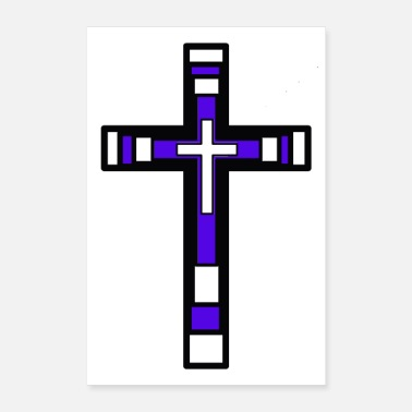 Christian Cross God Jesus Church Religion Love Peace - Poster