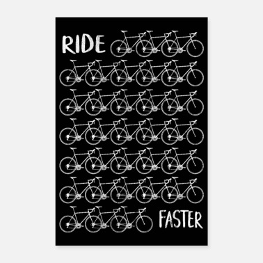Cykling Road Bike Road Cyclist Bicycle Triathlon Plakat - Poster