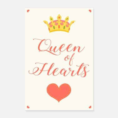 Queen of Hearts | Vintage poster - Poster